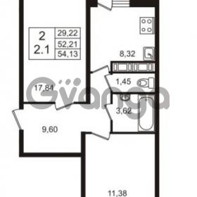 Продается квартира 2-ком 52.21 м² Английская улица 1, метро Улица Дыбенко