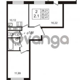 Продается квартира 2-ком 50.07 м² Английская улица 1, метро Улица Дыбенко