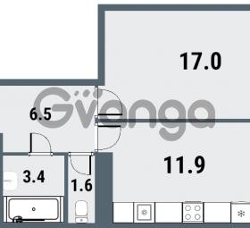 Продается квартира 1-ком 40.4 м² Плесецкая улица 1, метро Комендантский проспект