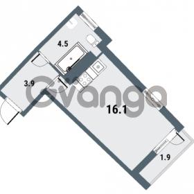 Продается квартира 1-ком 24.5 м² Плесецкая улица 1, метро Комендантский проспект