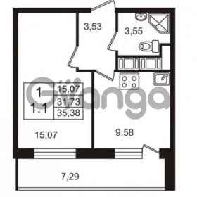 Продается квартира 1-ком 31.73 м² Английская улица 1, метро Улица Дыбенко