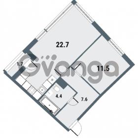 Продается квартира 1-ком 46.2 м² Плесецкая улица 1, метро Комендантский проспект