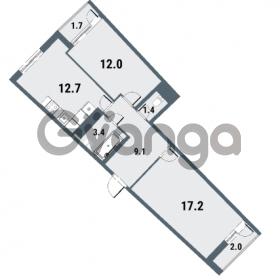 Продается квартира 2-ком 55.8 м² Плесецкая улица 1, метро Комендантский проспект