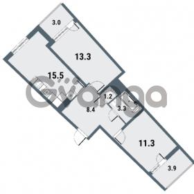 Продается квартира 2-ком 53 м² Плесецкая улица 1, метро Комендантский проспект