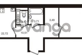 Продается квартира 1-ком 62.14 м² Европейский проспект 9к 1, метро Улица Дыбенко