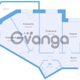 Продается квартира 3-ком 76 м² улица Николая Рубцова 11к 1, метро Парнас