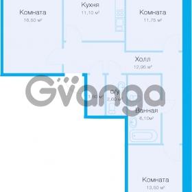 Продается квартира 3-ком 80 м² улица Николая Рубцова 11к 1, метро Парнас