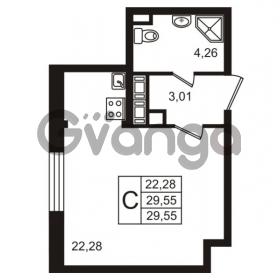 Продается квартира 1-ком 29.55 м² улица Пионерстроя 29, метро Проспект Ветеранов