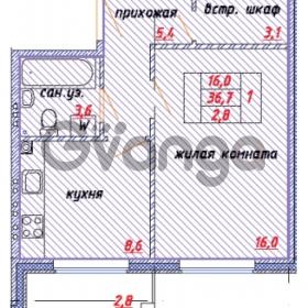 Продается квартира 1-ком 38 м² улица Ветеранов 1, метро Проспект Просвещения