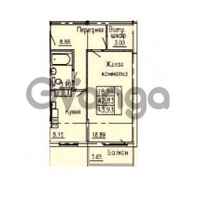 Продается квартира 1-ком 43 м² улица Ветеранов 1, метро Проспект Просвещения
