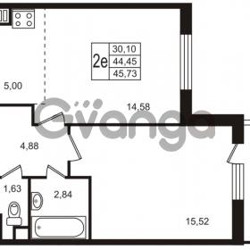 Продается квартира 1-ком 44.45 м² улица Пионерстроя 29, метро Проспект Ветеранов