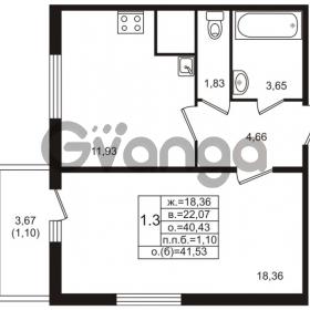 Продается квартира 1-ком 40 м² проспект Энергетиков 9, метро Ладожская
