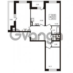 Продается квартира 3-ком 79.37 м² улица Пионерстроя 29, метро Проспект Ветеранов
