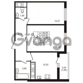 Продается квартира 2-ком 55 м² проспект Энергетиков 9, метро Ладожская