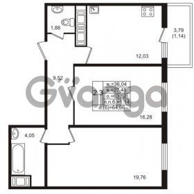 Продается квартира 2-ком 63 м² проспект Энергетиков 9, метро Ладожская