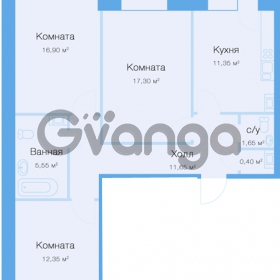 Продается квартира 3-ком 79 м² улица Фёдора Абрамова 20к 1, метро Парнас