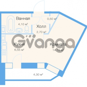 Продается квартира 1-ком 30 м² улица Фёдора Абрамова 20к 1, метро Парнас