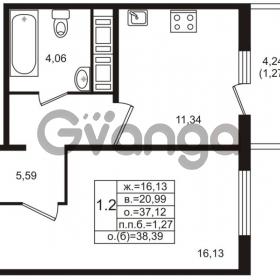 Продается квартира 1-ком 37 м² проспект Энергетиков 9, метро Ладожская