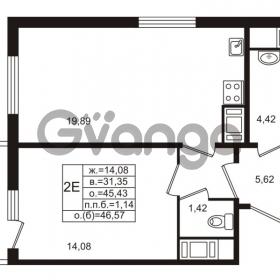 Продается квартира 1-ком 45 м² проспект Энергетиков 9, метро Ладожская