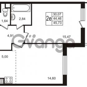 Продается квартира 1-ком 44.46 м² улица Пионерстроя 29, метро Проспект Ветеранов