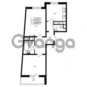 Продается квартира 2-ком 59 м² проспект Энергетиков 9, метро Ладожская