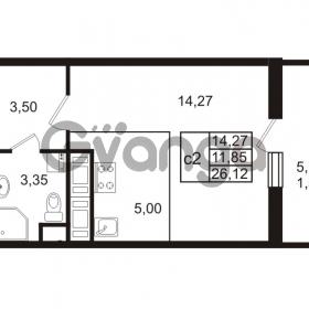 Продается квартира 1-ком 26 м² проспект Энергетиков 9, метро Ладожская