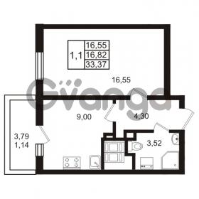 Продается квартира 1-ком 33 м² проспект Энергетиков 9, метро Ладожская
