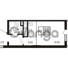 Продается квартира 1-ком 29 м² проспект Энергетиков 9, метро Ладожская