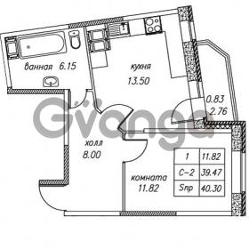 Продается квартира 1-ком 40.3 м² улица Валерия Гаврилина 18к 1, метро Парнас