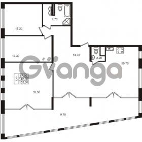 Продается квартира 3-ком 142.3 м² Приморский проспект 44, метро Старая деревня