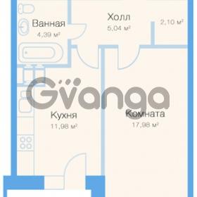 Продается квартира 1-ком 42 м² Заречная улица 20к 1, метро Парнас
