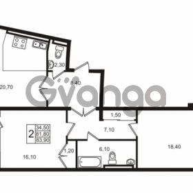 Продается квартира 2-ком 83.9 м² Приморский проспект 44, метро Старая деревня