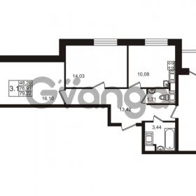 Продается квартира 3-ком 76 м² улица Катерников 1, метро Проспект Ветеранов