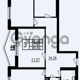 Продается квартира 3-ком 89.8 м² проспект Маршала Блюхера 11, метро Лесная
