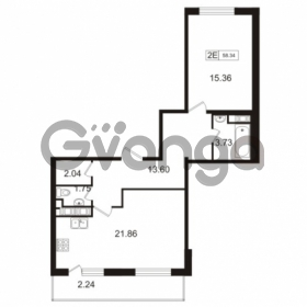 Продается квартира 1-ком 57.6 м² Союзный проспект 4, метро Проспект Большевиков