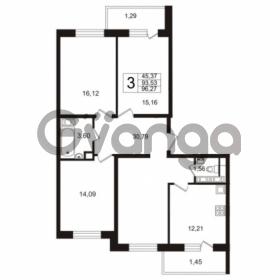 Продается квартира 3-ком 92.2 м² улица Адмирала Черокова 18к 3, метро Проспект Ветеранов