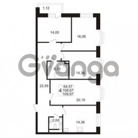 Продается квартира 4-ком 108.67 м² улица Адмирала Черокова 18к 2, метро Проспект Ветеранов