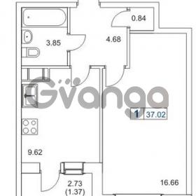 Продается квартира 1-ком 37 м² Гаражный проезд 1, метро Проспект Просвещения