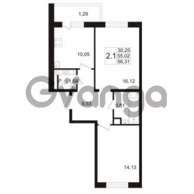Продается квартира 2-ком 55.02 м² улица Адмирала Черокова 18к 3, метро Проспект Ветеранов
