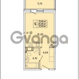 Продается квартира 1-ком 27 м² Красносельское шоссе 1, метро Проспект Ветеранов