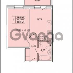 Продается квартира 1-ком 36 м² Красносельское шоссе 1, метро Проспект Ветеранов