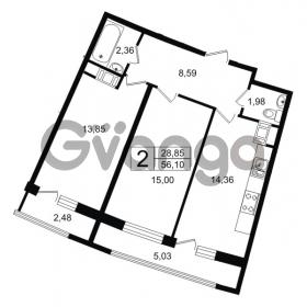 Продается квартира 2-ком 56.1 м² проспект Александровской Фермы 8, метро Пролетарская