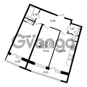 Продается квартира 2-ком 54.7 м² проспект Александровской Фермы 8, метро Пролетарская