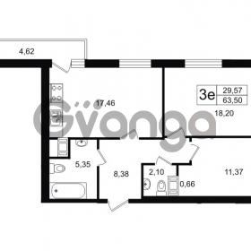 Продается квартира 2-ком 63.5 м² проспект Александровской Фермы 8, метро Пролетарская