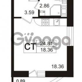 Продается квартира 1-ком 26.3 м² Полюстровский проспект 71, метро Лесная