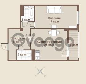 Продается квартира 1-ком 52 м² площадь Европы 1, метро Приморская