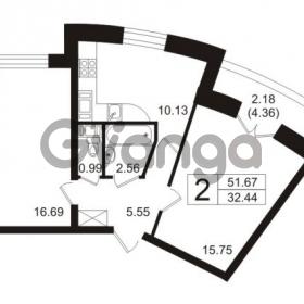 Продается квартира 2-ком 53.85 м² Полюстровский проспект 71, метро Лесная