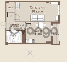 Продается квартира 1-ком 38 м² площадь Европы 1, метро Приморская