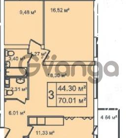 Продается квартира 3-ком 70 м² Ириновский проспект 35, метро Ладожская