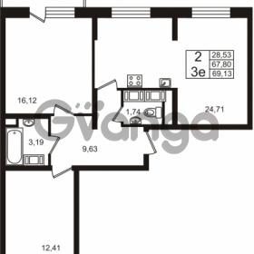 Продается квартира 2-ком 67.8 м² Европейский проспект 4к 2, метро Улица Дыбенко